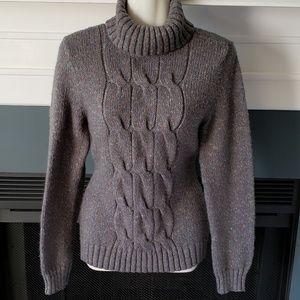 New York & Co Brown Turtleneck Sweater Medium